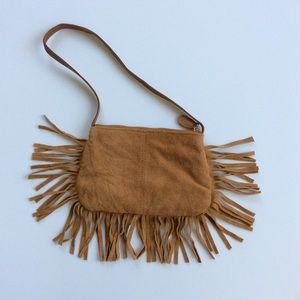 🍁 Small Suede Fringe Purse